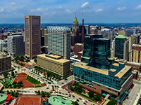 Baltimore Skyline Aerial Photo